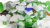 glass material : Sea glass on a turn table