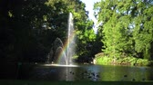 luk : Rainbow in the fountain. The Botanical Garden is located across the street from Nantes Railway Station. FRANCE