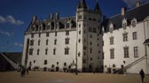 gotický : the Chateau Des Ducs de Bretagne or the Castle of the Dukes of Brittany, Fortified wall of castle