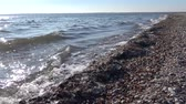 hazardous waste : Dirty foam on the water and the seashore, eutrophication, pollution of the reservoir, ecological problem