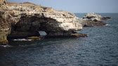 Rocky coast on the Black Sea, sea cave, Bulgaria, Tyulenovo