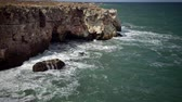 sea caves : Rocky coast on the Black Sea, Bulgaria, Tyulenovo