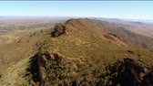aerial : Aerial footage of rugged out back Australian mountain ranges, creeks, peaks, desert and Mallee areas. Flinders Ranges Area, featuring Wilpena Pound, Arkaroola, St Marys Peak