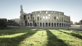 sombra : Colosseum in Rome and morning sun, Italy