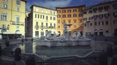 mármore : Fountain on Piazza Navona, Rome. Italy