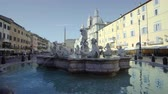 church : Piazza Navona, Rome. Italy Stock Footage