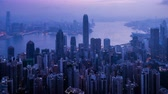 hong kong : timelapse, sunrise from Victoria peak, Hong kong Vídeos