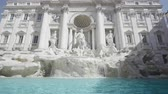 columna : Fountain di Trevi en Roma, Italia Archivo de Video