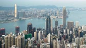 hong kong : timelapse, sunset from Victoria peak, Hong kong Vídeos