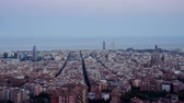 meditativo : timelapse, Barcelona sunset, Spain