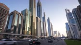 tall : hyperlapse, Dubai Sheikh Zayed road, UAE