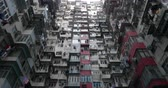 evler : Residential buildings, Hong Kong Stok Video