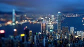 hong kong : Hong Kong from Victoria peak, ltilt shift time lapse