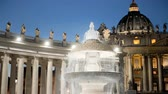 vaticano : Bernini fountain, Saint Peters square, Vatican City