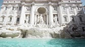 Fountain di Trevi in Rome, Italy Stok Video