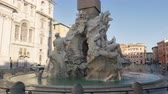 Statue of Zeus in Berninis fountain of Four Rivers in Piazza Navona, Rome
