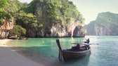long boat and small Koh Lao Lading island, Thailand