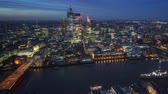 City of London At Sunset, timelapse Stock Footage