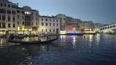イタリア語 : Grand Canal in sunset time from Rialto Bridge, Venice, Italy