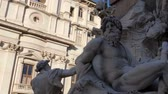 mramor : Statue of Zeus in Berninis fountain of Four Rivers in Piazza Navona, Rome