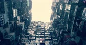 poor : Residential buildings in Hong Kong, China Stock Footage