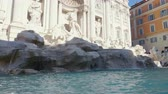 roma : Fountain di Trevi in Rome, Italy Stock Footage