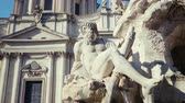 taşlar : Fountain di Trevi in Rome, Italy Stok Video