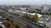 рельсы : station with freight trains and containers