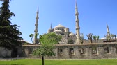 ahmet : Bue Mosque. HD quality pan video. Mosque built to rival Hagia Sophia, they located next to each other and it is hard to decide which is more extraordinary structure.