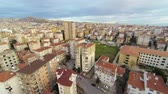 yükseklerde : Houses along suburban architecture. Maltepe, Istanbul from aerial camera.   Stok Video