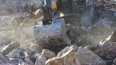 heavy : Excavator working in the construction site. Hydraulic excavator works for formation of new land.