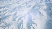 field ice : Aerial view of Arctic landscape and mountain range Stock Footage