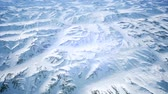 ragged : Polar Snow Rocky Mountains Ridges In a cold polar region Stock Footage