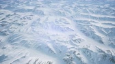 jagged : Polar Snow Rocky Mountains Ridges In a cold polar region Stock Footage
