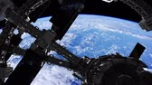 astronauta : International Space Station in outer space over the planet Earth Vídeos
