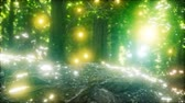 scenérie : Firefly Flying in the Forest