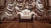 budynki : luxurious theater curtain stage with chair