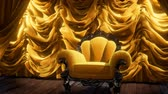 avize : luxurious theater curtain stage with chair