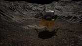 spacecraft : lunar landing mission on the Moon Stock Footage