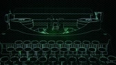 copiadora : hologram of retro typewriter in the dark Stock Footage
