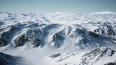 antarktyda : 8K Aerial Landscape of snowy mountains and icy shores in Antarctica Wideo