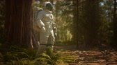 探検家 : lonely Astronaut in dark forest