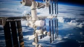 raumschiff : International Space Station in outer space over the planet Earth Videos