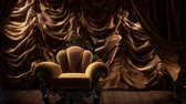 barok : luxurious theater curtain stage with chair