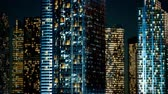 perspective view : Skyscrapper in the business quarter in the night
