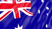csillag : Australia Flag Waving. 3d render seamless loop