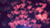 glow : Abstract Blurred Hearts Loop Animation Background Stock Footage