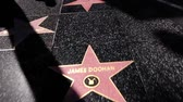 Walk Of Fame, Hollywood, Los Angeles (steden) Stockvideo