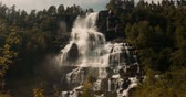 hardanger : Beautiful Tvindefossen Waterfall, Norway - Cinematic Style