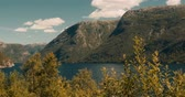 hardanger : Idyllic View On A Norwegian Fjord - Cinematic Style Stock Footage
